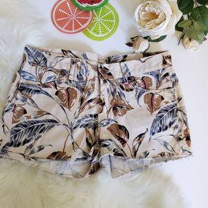 Madewell printed cut off shorts sz25